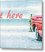 Free Personalized Custom Beach Art Metal Print