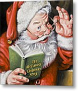 Personalized Santa Painting....instructions Are On Lower Right Side Of This Page. Metal Print
