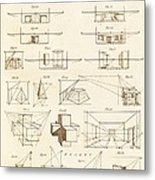 Perspective And Scenographic Diagrams. Metal Print