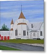 Peru Congregational Church Metal Print