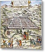 Peru: Cuzco, 1572 Metal Print