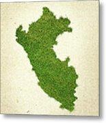 Peru Grass Map Metal Print by Aged Pixel
