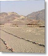 Peru Nazca Bones Site Metal Print