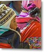 Peruvian Woman With Baby Metal Print