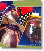 Pet Christmas Tree Ornaments Metal Print