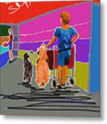 Petco Shoppers Metal Print