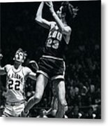 Pete Maravich Fade Away Metal Print by Retro Images Archive