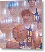 Pete Maravich Kaleidoscope Color 2 Metal Print by Retro Images Archive
