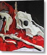 Pete The Skull Metal Print by Kip Krause