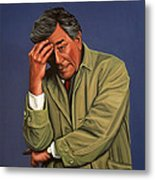 Peter Falk As Columbo Metal Print by Paul Meijering