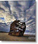 Peter Iredale Shipwreck Sunrise Metal Print