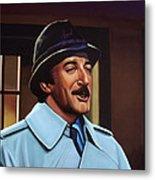 Peter Sellers As Inspector Clouseau  Metal Print by Paul Meijering