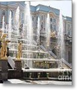 Peterhof Palace Fountains Metal Print