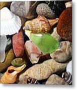 Petoskey Stones L Metal Print by Michelle Calkins