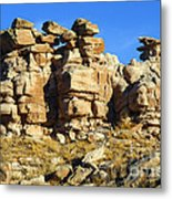 Petrified Forest Rock Formations Metal Print