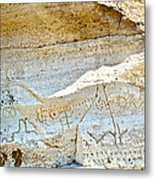 Petroglyphs At Petroglyph Point In Lava Beds Nmon-ca Metal Print