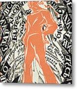 Petrograd Red Seventh November Revolutionary Poster Depicting A Russian Sailor Metal Print