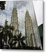 Petronas Reflecting Metal Print