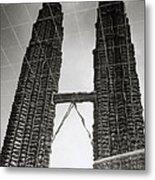 Petronas Towers Reflection Metal Print