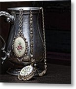 Pewter Cup Still Life Metal Print by Tom Mc Nemar