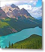 Peyto Lake Along Icefield Parkway In Alberta-canada Metal Print