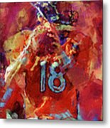Peyton Manning Abstract 3 Metal Print by David G Paul