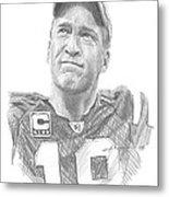 Peyton Manning Colts Farewell Pencil Portrait Metal Print