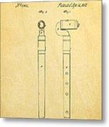 Pfaff Flute Patent Art 1857 Metal Print