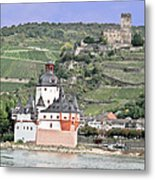 Pfalzgrafenstein With Burg Gutenfels  Metal Print