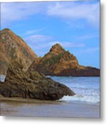 Pfeiffer Beach On Big Sur Coast Metal Print by Viktor Savchenko