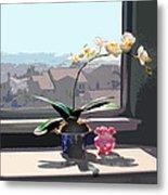 Phalaenopsis Orchid In Sunny Window Metal Print
