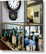 Pharmacist - Corner Drug Store Metal Print