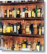 Pharmacist - Mortar Pestles And Medicine Bottles Metal Print