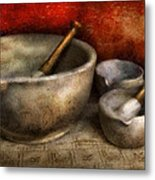 Pharmacist - Pestle And Son  Metal Print by Mike Savad