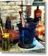Pharmacist - Three Mortar And Pestles Metal Print by Susan Savad