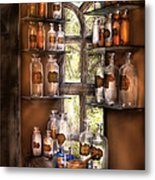 Pharmacist - Various Potions Metal Print by Mike Savad