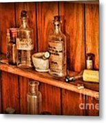 Pharmacy - A Bottle Of Poison Metal Print