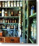Pharmacy - Back Room Of Drug Store Metal Print