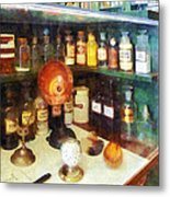 Pharmacy - Behind The Counter At The Drugstore Metal Print