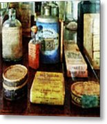 Pharmacy - Cough Remedies And Tooth Powder Metal Print