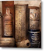 Pharmacy - Cures For The Bowels Metal Print by Mike Savad