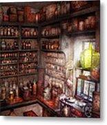 Pharmacy - Equipment - Merlin's Study Metal Print