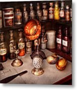 Pharmacy - Items From The Specialist Metal Print by Mike Savad