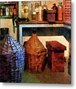 Pharmacy - Medicine Bottles And Baskets Metal Print