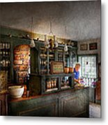Pharmacy - Morning Preparations Metal Print by Mike Savad