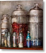Pharmacy - Mysterious Pebbles Powders And Liquids Metal Print