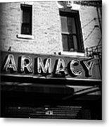 Pharmacy - Storefronts Of New York Metal Print
