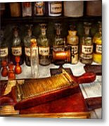Pharmacy - The Dispensary  Metal Print by Mike Savad
