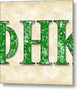 Phi Eta Kappa - Parchment Metal Print