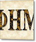 Phi Eta Mu - Parchment Metal Print